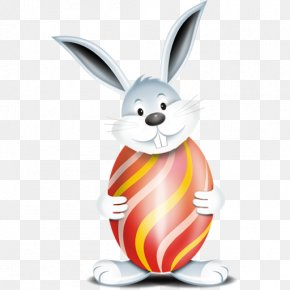Easter Bunny HD - Easter Bunny Red Easter Egg Icon PNG