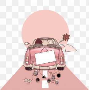 Wedding Cars - Wedding Invitation Cartoon Marriage PNG