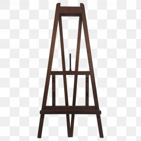 Design - Furniture Easel Wood Painting PNG