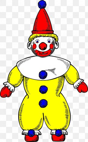 Yellow Clown - Joker Brozo Clown Clip Art PNG