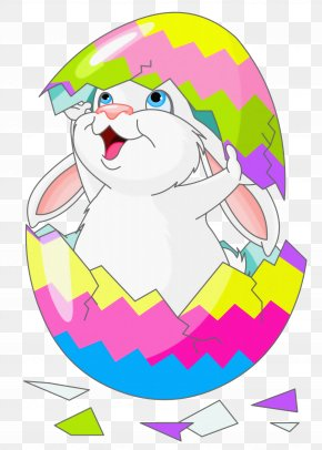 Easter Bunny Clipart Picture With Egg - Easter Bunny Easter Egg Clip Art PNG