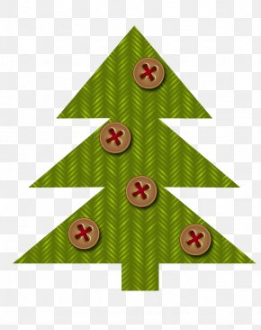 Green Christmas Tree Buttons Pattern - Santa Claus Christmas Tree Clip Art PNG