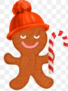 Candy - Gingerbread House Candy Cane Gingerbread Man Clip Art PNG