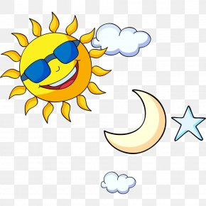 Creative Cartoon Sun Moon Stars - Pokxe9mon Sun And Moon Cartoon Drawing Clip Art PNG