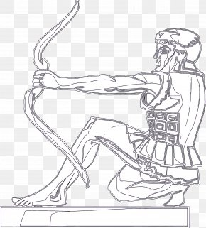 Figure Drawing Leg - Line Art Arm Drawing Joint Shoulder PNG