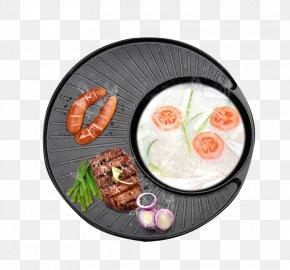 Barbecue Material On A Circular Baking Tray - Barbecue Hot Pot Shabu-shabu Sukiyaki Grilling PNG
