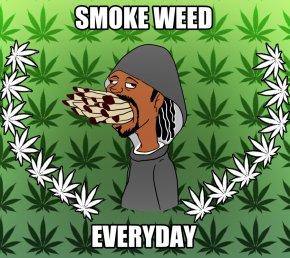 Cartoon Weed - Cannabis Smoking Head Shop Joint PNG