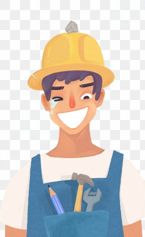 Construction Worker Helmet Painted Stone Sweat - Construction Worker Architectural Engineering Laborer Building Material PNG