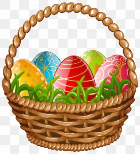 Easter Egg Basket Clip Art Image - Egg In The Basket Easter Egg PNG