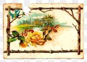 Rose Label Collection - Paper Floral Design Clip Art PNG