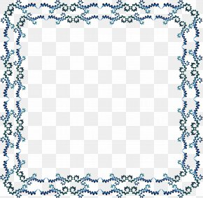 Dark Blue Wave Pattern Border - RGB Color Model Pattern PNG