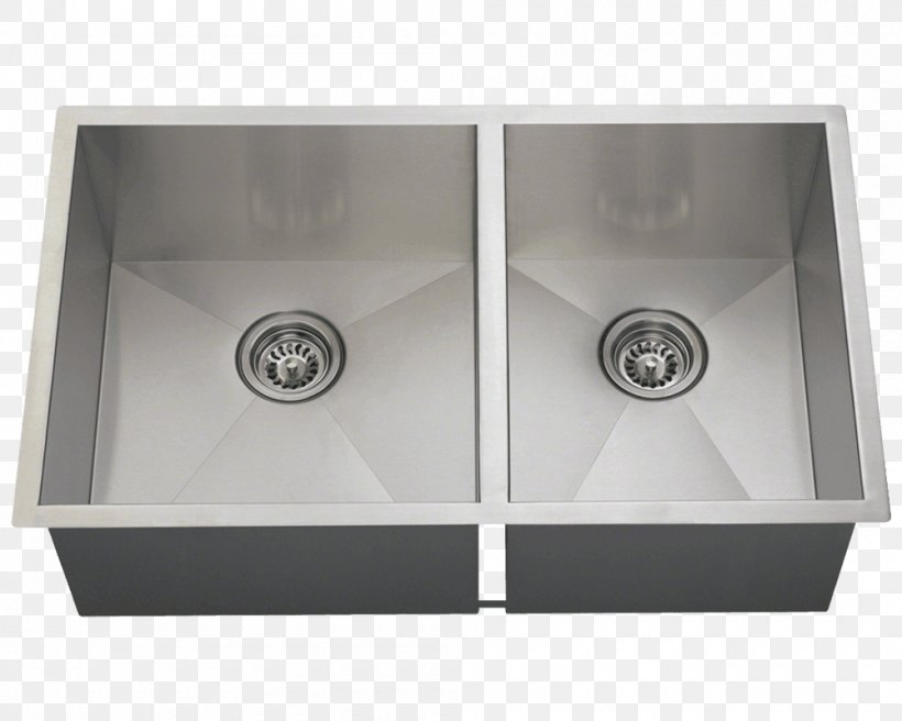 Kitchen Sink Stainless Steel MR Direct, PNG, 1000x800px, Sink, Bathroom Sink, Bowl, Brushed Metal, Composite Material Download Free