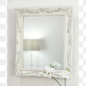 Classical Decorative Material - Picture Frames Mirror Shabby Chic White Color PNG
