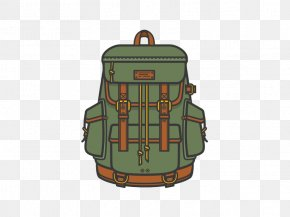 Cartoon Travel Mountaineering Bags Free To Pull Material - Museum Of Modern Art Backpack Designer Illustration PNG
