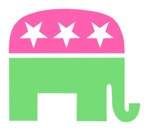 Elephant White Background - United States Republican Party Political Party Election Voting PNG