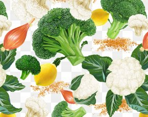 Healthy Vegetables Broccoli And Cauliflower - Broccoli Cauliflower Organic Food Leaf Vegetable PNG