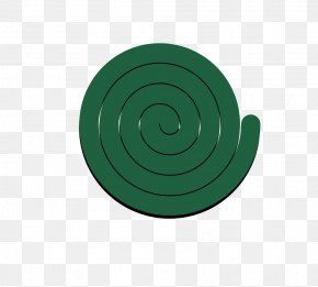 A Mosquito - Circle Spiral Angle Green Pattern PNG