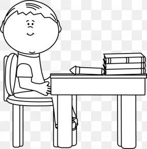 Black Desk Cliparts - Desk Black Carteira Escolar Clip Art PNG