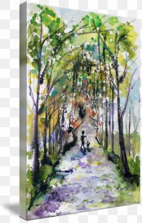 Ink Watercolor Painting - Watercolor Painting Modern Art Acrylic Paint PNG
