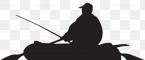 Fisherman And Boat Silhouette Clip Art Image - Silhouette Portrait Photography PNG