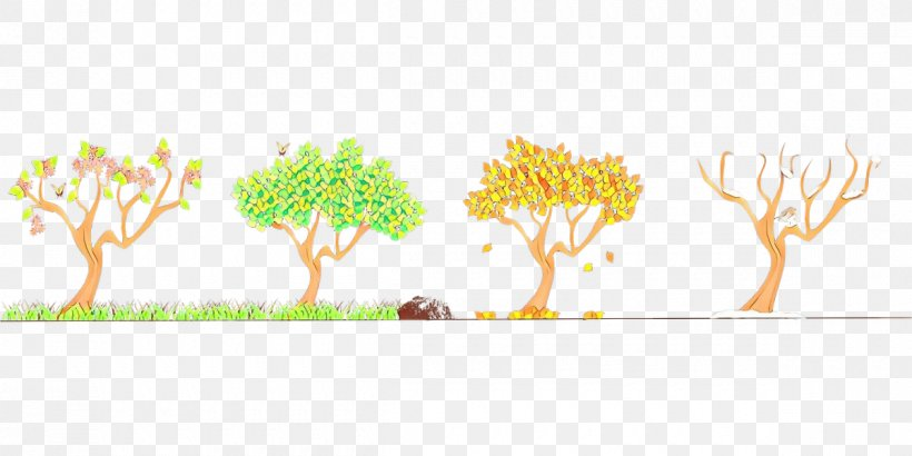 Green Yellow Tree Leaf Plant, PNG, 1200x600px, Cartoon, Branch, Green, Leaf, Logo Download Free