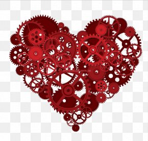 Gear Heart Vector Material - Gear Heart Cardiovascular Disease MisterChrono PNG