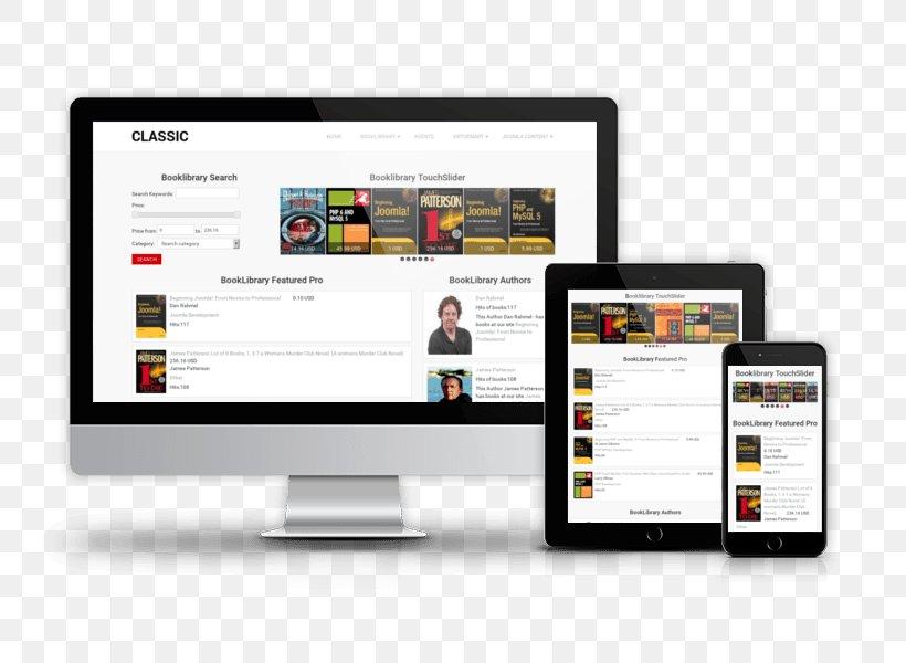 Responsive Web Design Computer Software Joomla Book Template Png 800x600px Responsive Web Design Book Bookselling Brand