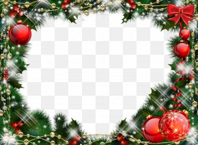 Christmas Decoration - Christmas Decoration Picture Frame Santa Claus PNG
