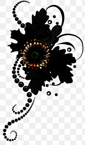 Plant Visual Arts - Clip Art Black-and-white Flower Visual Arts Plant PNG