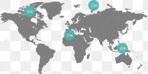 World Map - India United States Globe World Map PNG