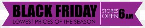 Black Friday Purple Banner Clipart Image - Banner Clip Art PNG
