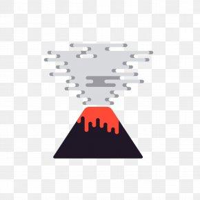 Creative Cartoon Volcano - Iceland Volcano Euclidean Vector PNG