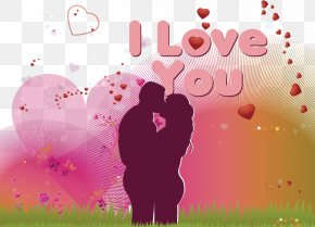 Creative Valentine's Day - Valentines Day Couple Wish Greeting Card PNG