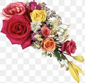 Bouquet Flowers - Picture Frame Love PNG