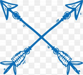 Hand-painted Cross Bows And Arrows - Bow And Arrow Bow And Arrow PNG