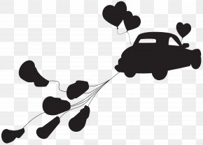 Wedding Car Just Married Silhouette Clip Art - Marriage Silhouette Clip Art PNG