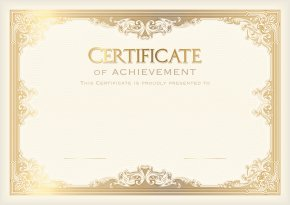 Certificate Template Clip Art Image - Academic Certificate Student Template Poster School PNG