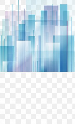 Gradient Abstract Geometric Blocks - Abstract City Abstract Art Graphic Design PNG