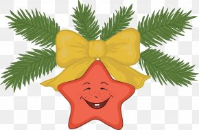 Cartoon Star Bow - Christmas Decoration Jingle Bell Christmas Tree Clip Art PNG