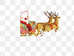 Christmas Reindeer - Pxe8re Noxebl Ded Moroz Santa Claus Christmas Gift PNG