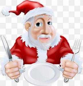 Vector Santa Claus - Santa Claus Christmas Dinner Cartoon PNG