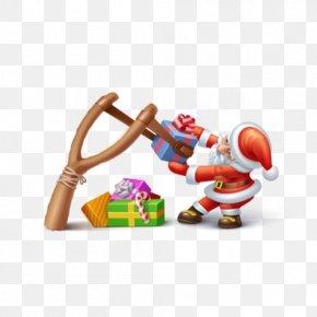 Santa Claus Gift Boxes - Santa Claus Christmas Shooting Sport Icon PNG