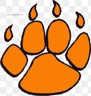 Tiger - Tiger Dog Cat Paw Clip Art PNG