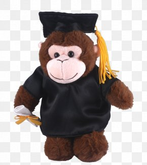 Graduation Gown - Stuffed Animals & Cuddly Toys Graduation Ceremony Sock Monkey Academic Dress PNG
