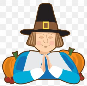 Transparent Thanksgiving Pilgrim Picture - Thanksgiving Dinner Clip Art PNG