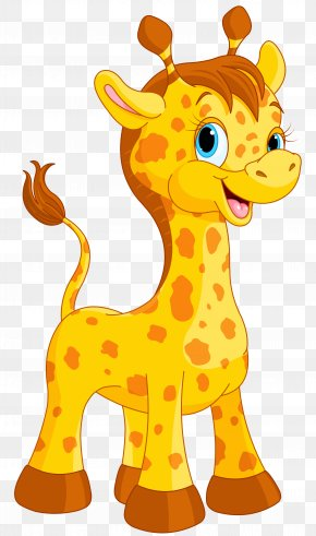 Cute Giraffe Cartoon Clipart Image - Giraffe Cartoon Drawing PNG