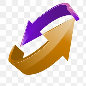 Gold Ring Purple Double Arrow Perspective PNG