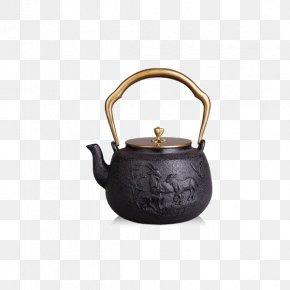 Auspicious Beginning Cast Iron Teapot - Coffee Kettle Teapot PNG