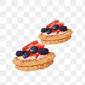 Hand-painted Blueberry Pie - Blueberry Pie Dessert Watercolor Painting PNG
