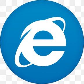 Ie - Blue Symbol Logo PNG